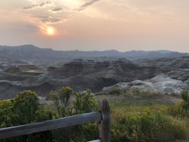 Sunset in the BadLands, SD
